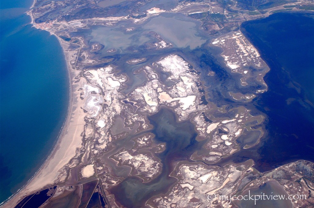 French Camargue, as seen from FL370