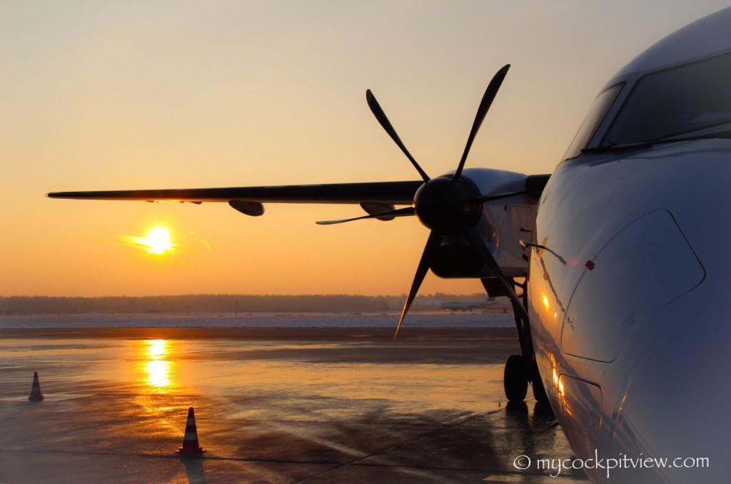 Mycockpitview. Luxair Bombardier dash8 Q400. Frankfurt. FRA. EDDF.