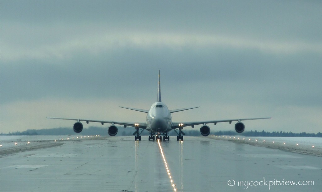 Face to face with a Boeing 747 in Frankfurt Hahn.