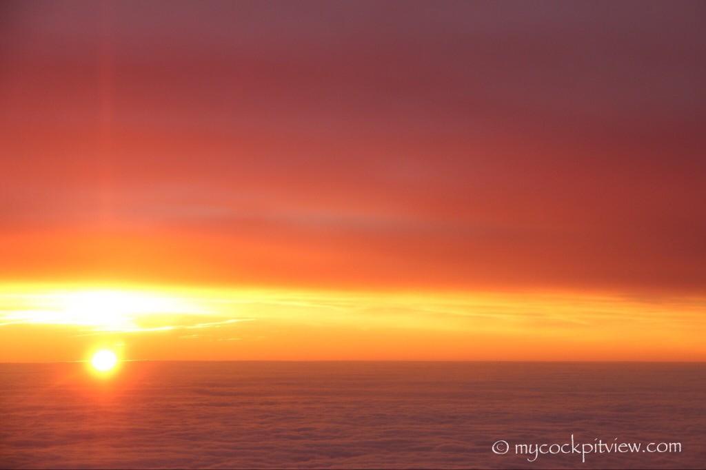 Sunset over France.
