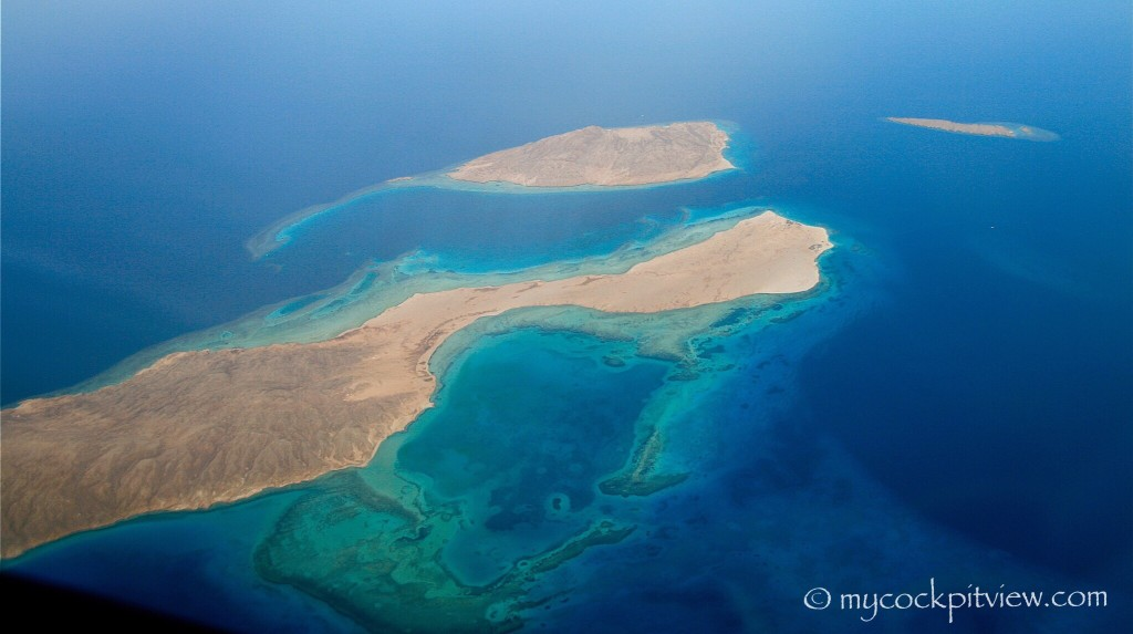 I only flew a once to Sharm El Sheikh, but no wonder is known to be a paradise for scubadivers. Mycockpitview