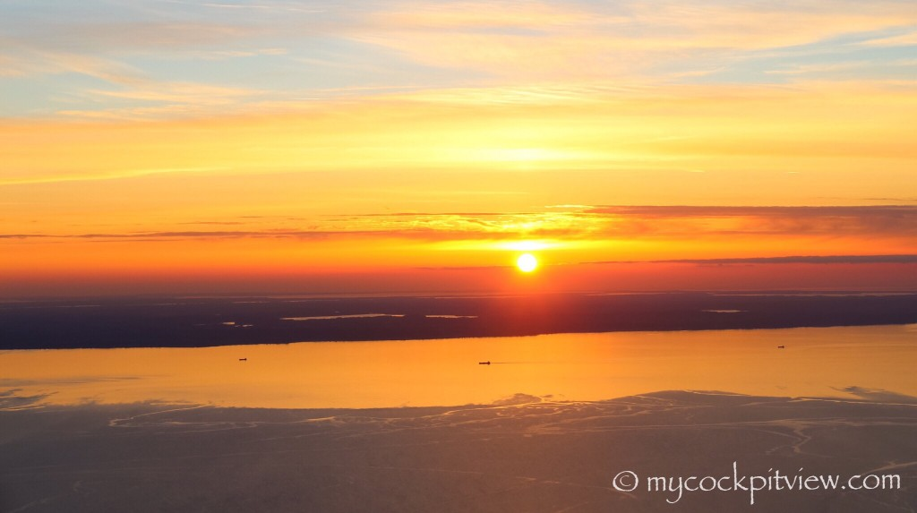 Sunset over Danemark, mycockpitview