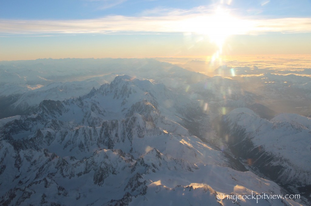 Mont Blanc shortly before sunset