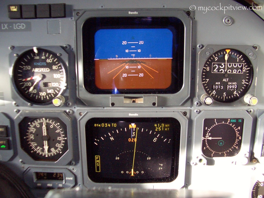 Flight instruments of the Fokker 50. Basic, but great to lear how to fly!