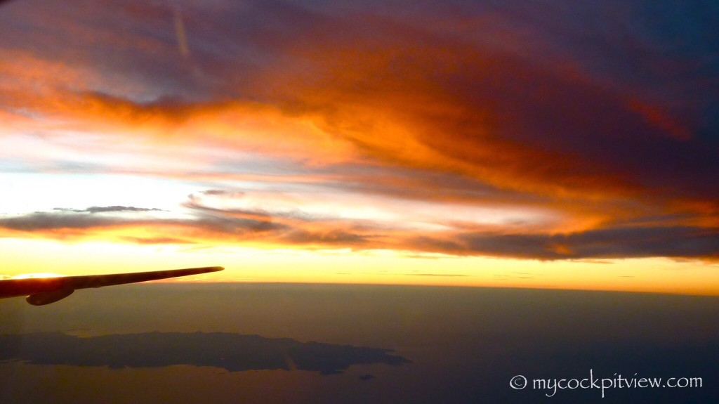 Sunset sunrise from above mycockpitview