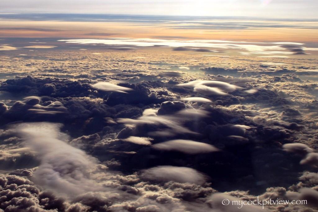 Clouds, sunset, sunrise