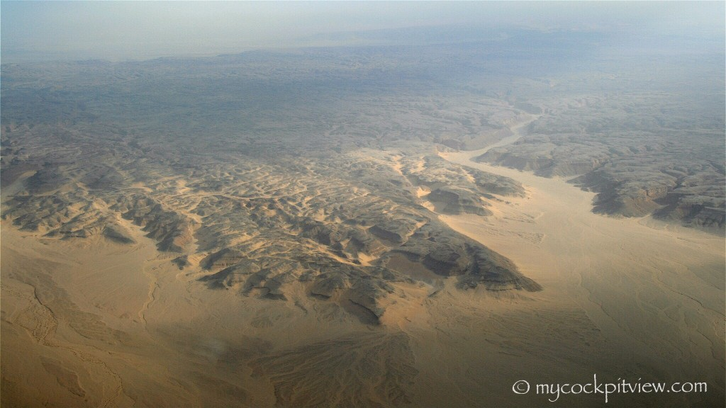 Desert, somewhere over Egypt. Mycockpitview