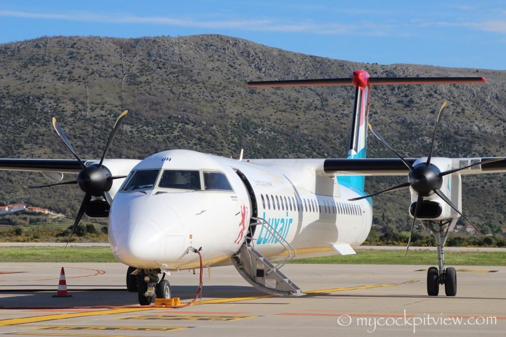 Luxair Bombardier Dash8 Q400 in Dubrovnik, Croatia