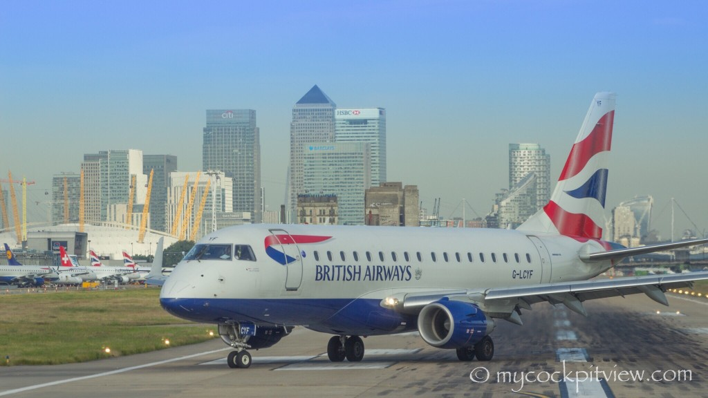 This is why this airport is called London City Airport... LCY Mycockpitview British airways