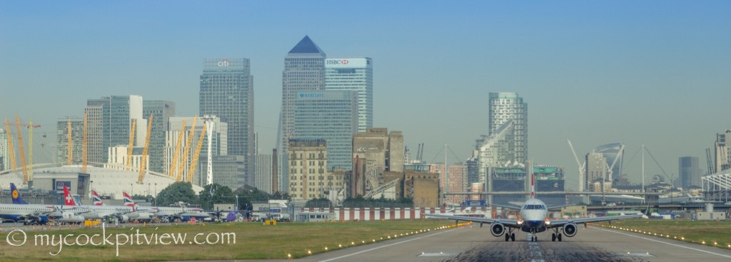 This is why this airport is called London City Airport... LCY Mycockpitview