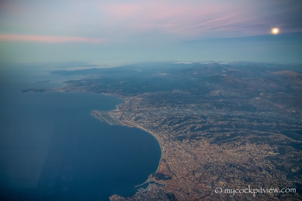 Great view during our descent towards Nice. Mycockpitview