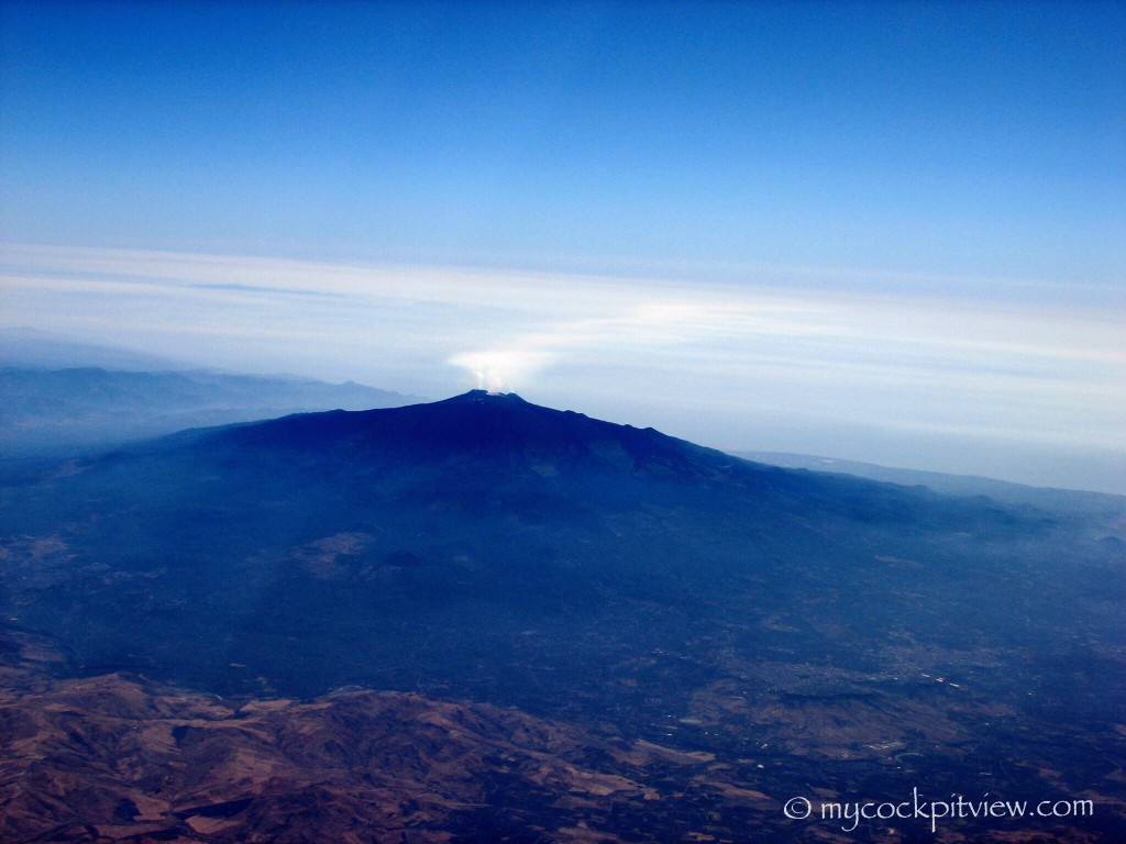 Etna volcano, Sicilia. Mycockpitview