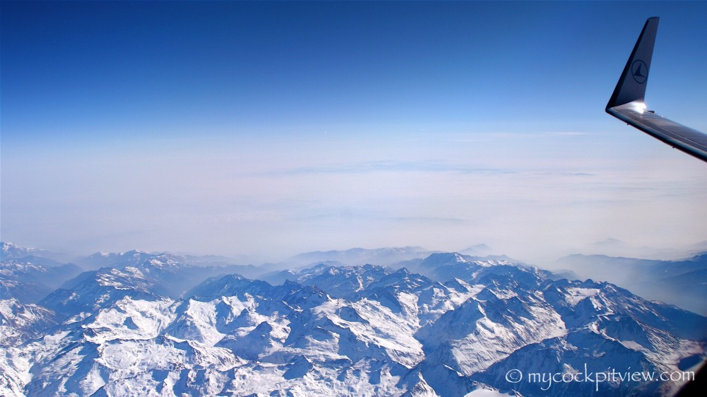 The Alps from FL410. Mycockpitview