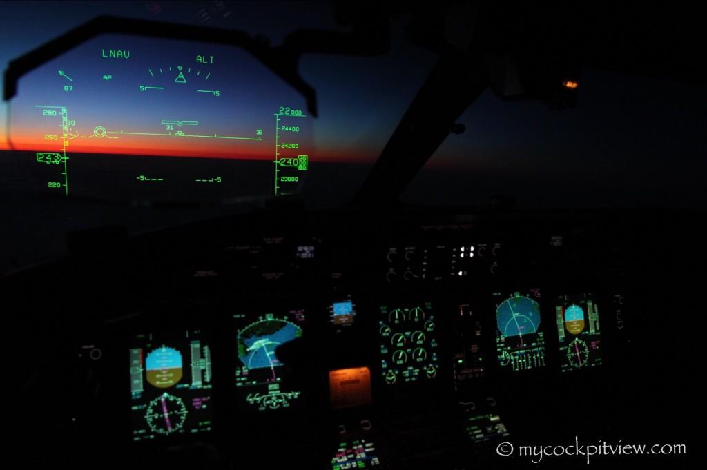 Enjoying the last rays of sun from the cockpit. Mycockpitview