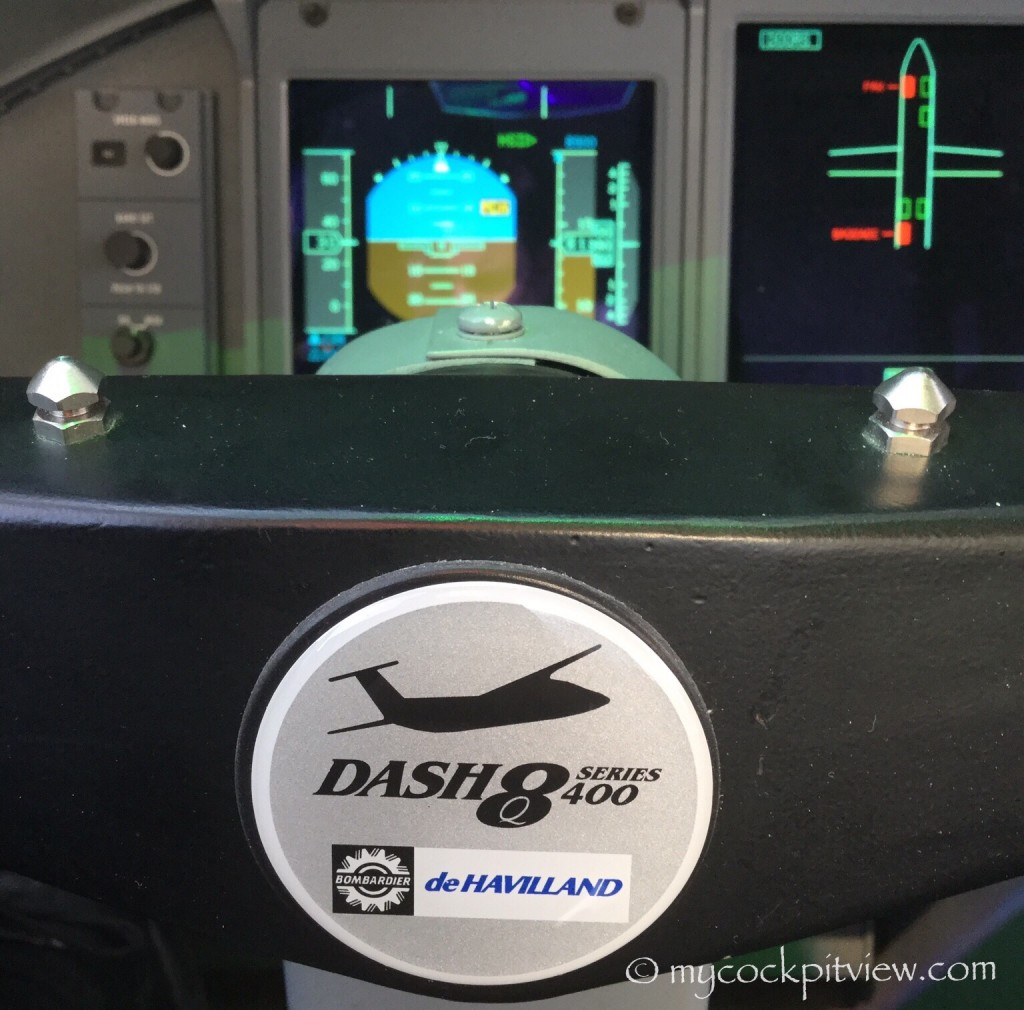 Bombardier Dash8 Q400 steering wheel. Mycockpitview