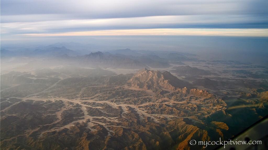 Somewhere over Egypt. Mycockpitview