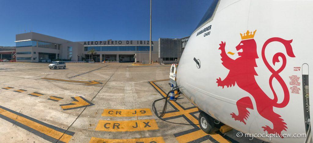 Luxair Bombardier Dash8 Q400 in Ibiza. Mycockpitview