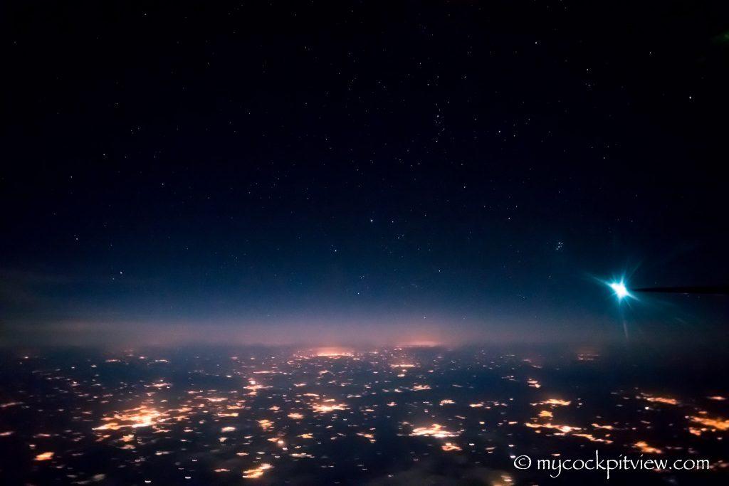 Overflying Germany at night - Mycockpitview