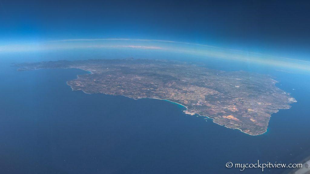 Majorque, coming back from Ibiza, mycockpitview