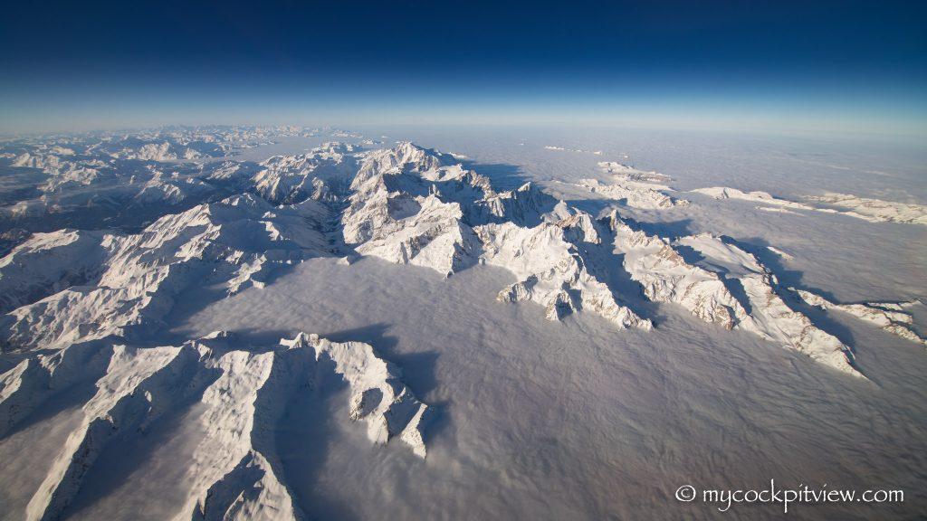 Massif du Mont Blanc, mycockpitview