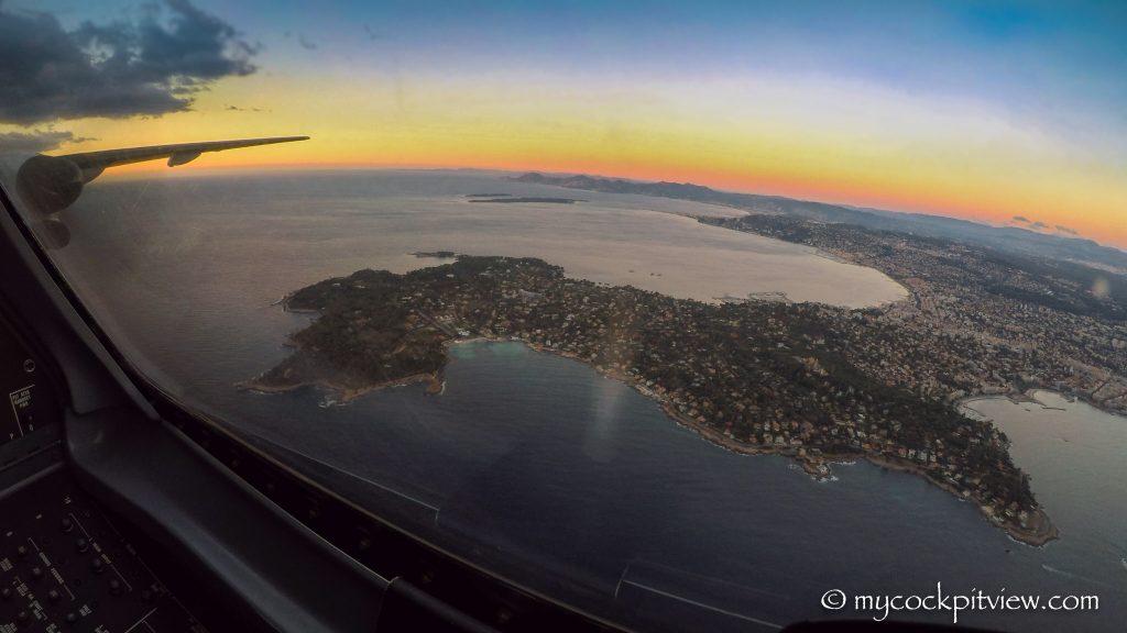 Cap d'Antibes vu du ciel - Mycockpitview