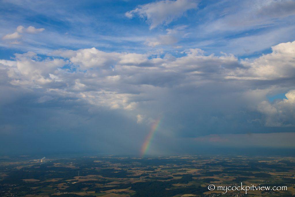 Rainbow in the sky, Mycockpitview