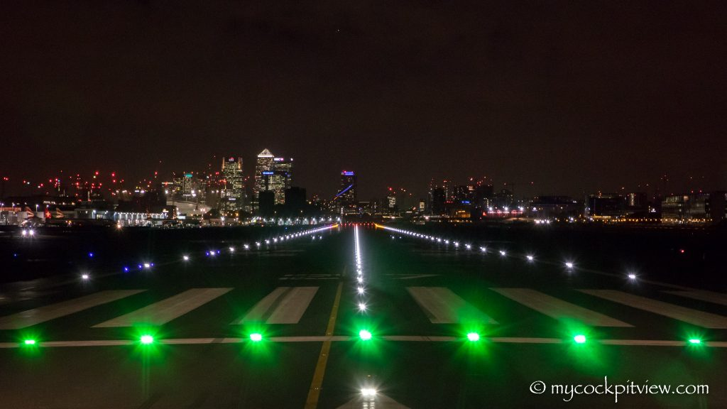 Ready for take off - London City Airport runway 27 - Mycockpitview